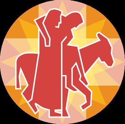 De barmhartige samaritaan, het logo van de Diaconie